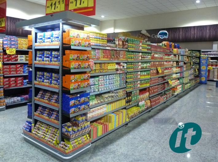 Prateleiras para Mercado e Supermercados